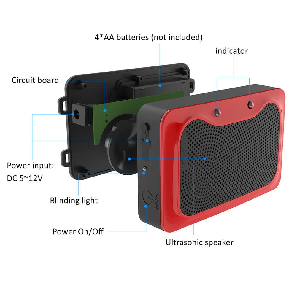 battery operated ultrasonic pest repeller
